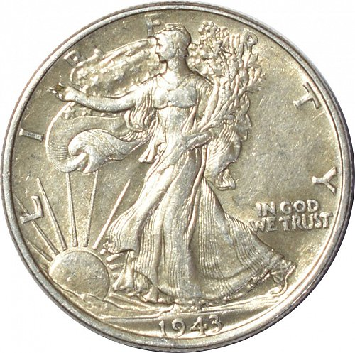 1943 Walking Liberty Half Dollar,  (Item 142)