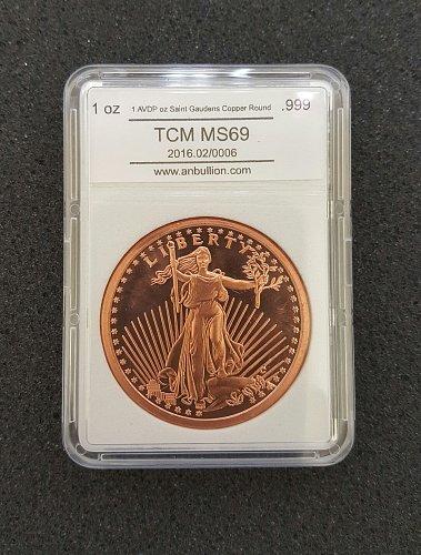 1 oz Saint Gaudens Copper Round (New)