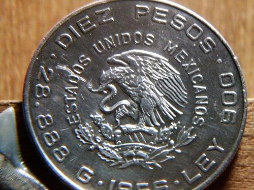 10 PESOS Silver Coin 1956