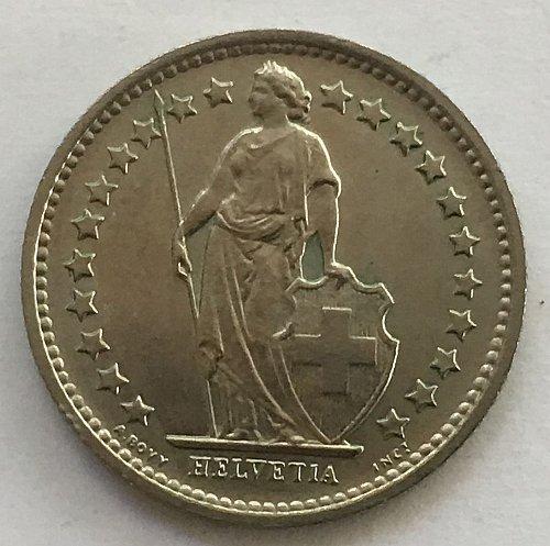 SWITZERLAND 1969  1 FRANC