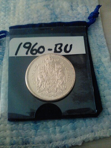 BU - 1960 (.925- SILVER) CANADA 50 CENT