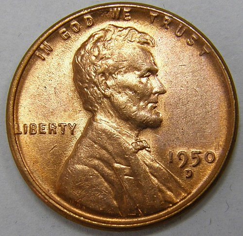 1950 D Lincoln Wheat Cent #2