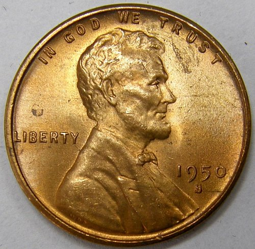 1950 S Lincoln Wheat Cent #4