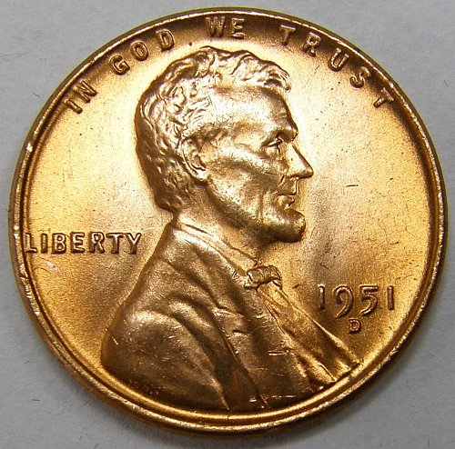 1951 D Lincoln Wheat Cent #2