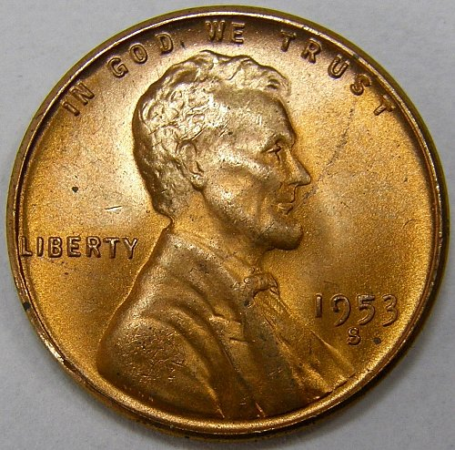 1953 S Lincoln Wheat Cent #8
