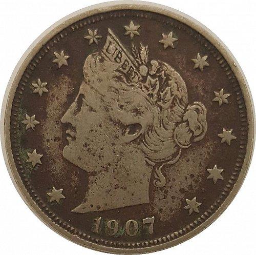 "1907 P Liberty Nickels | Liberty Head ""V"" Nickel"