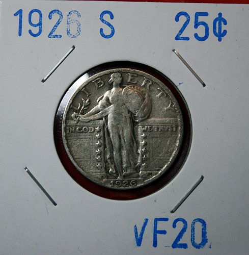 1926 S STANDING LIBERTY QUARTER