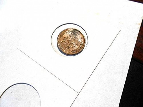1910-s  lincoln Wheat Cent  AU+  Red Brown