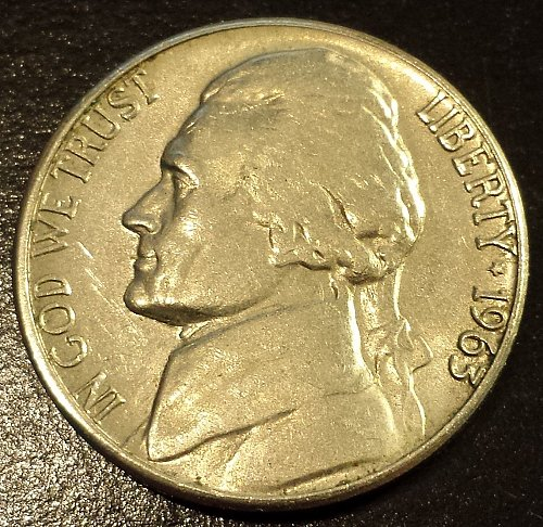 1963-D Jefferson Nickel (6222)