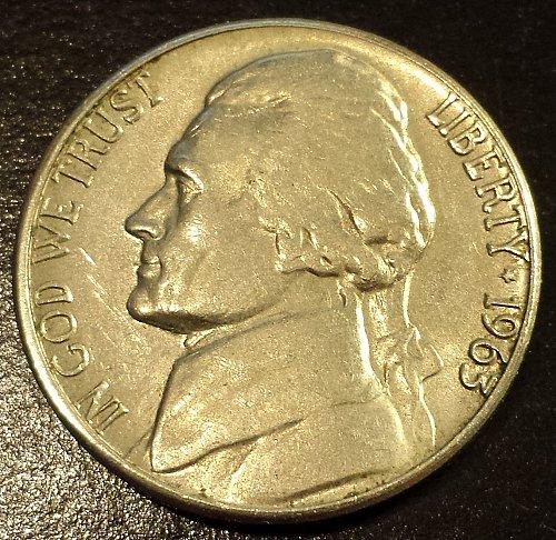 1963-D Jefferson Nickel (6222)
