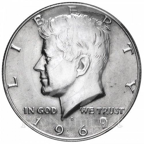 1969D half dollar 40% silver