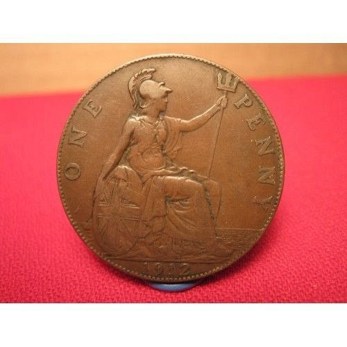 2-early great brit.pennys 1912 and 1913
