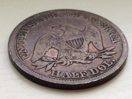 1846 P Seated Liberty Half Dollar: Tall Date