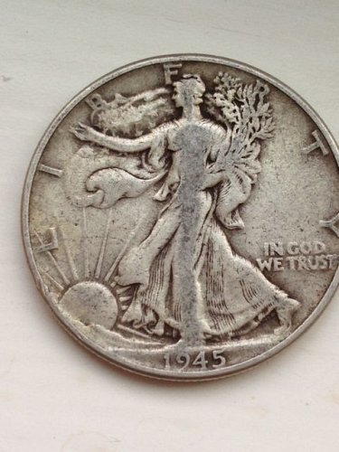 1945 P Walking Liberty Half Dollar - No Reserve