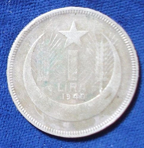 1940 Turkey Lira Fine