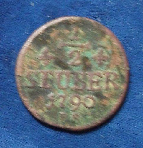 1790 German States/Julich-Berg 1/2 Stuber Fine