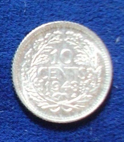 1943P Curacao 10 Cents BU