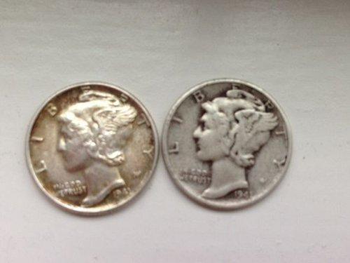 1941 P Mercury Dimes - Lot of (2)
