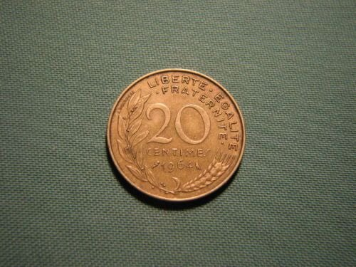 1964 France 20 centimes coin