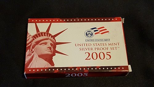 2005 US Mint Silver Proof Set. Error Set!!!!!
