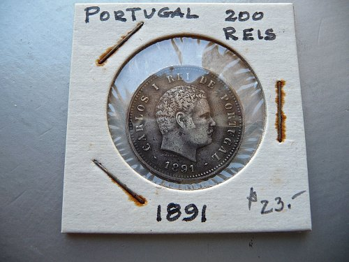 Portugal   1891  200 Reis