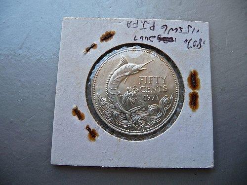 Bahamas  1971  half dollar.
