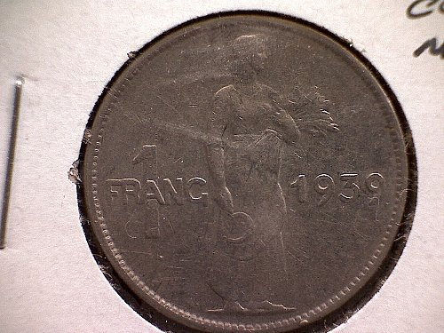 1939 LUXEMBOURG ONE FRANC