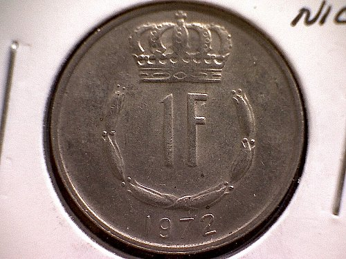 1972 LUXEMBOURG ONE FRANC