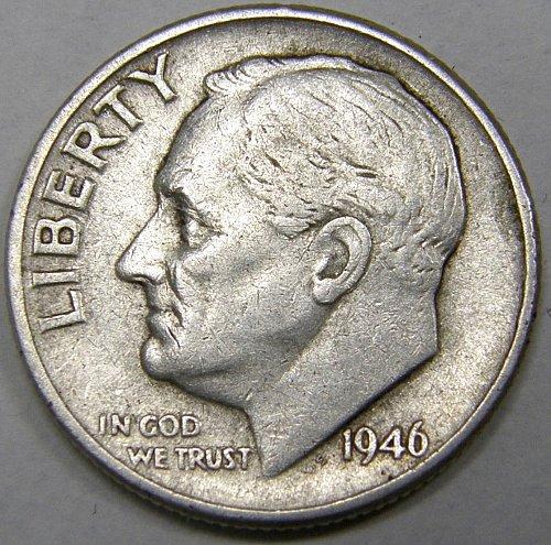 1946 P Roosevelt Dime #1