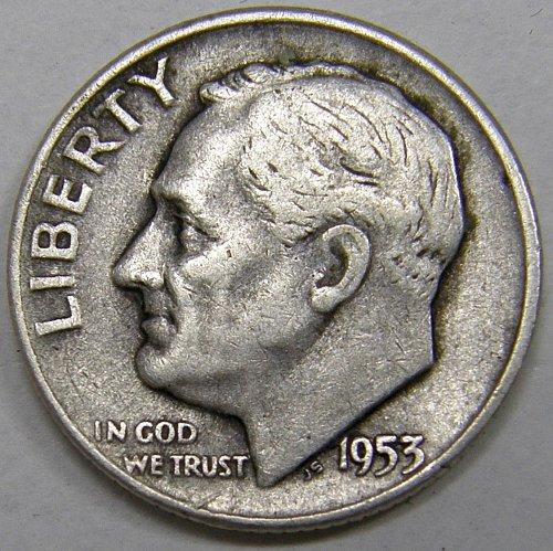 1953 D Roosevelt Dime #1