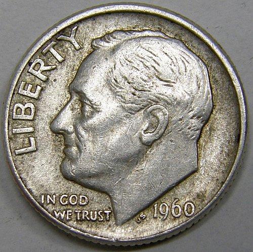 1960 D Roosevelt Dime #1