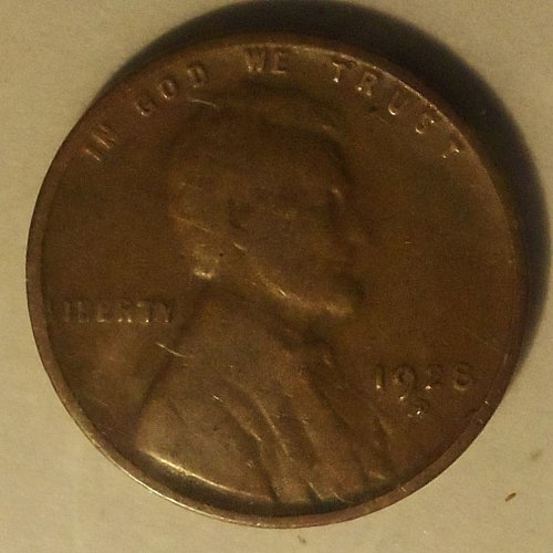 1928 D Wheat Cent  (F)  #023