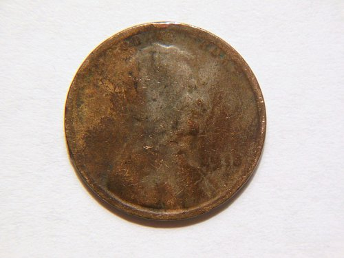 1914-P Lincoln Wheat Cent Error Coin, (Struck through Grease), both sides