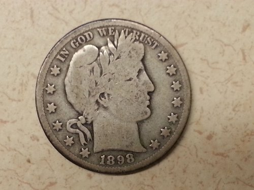 1898-S Barber Half