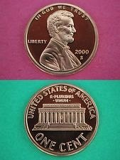 2000S and 2003S proof pennys