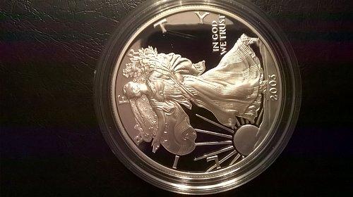 2003-W Proof Silver Eagle