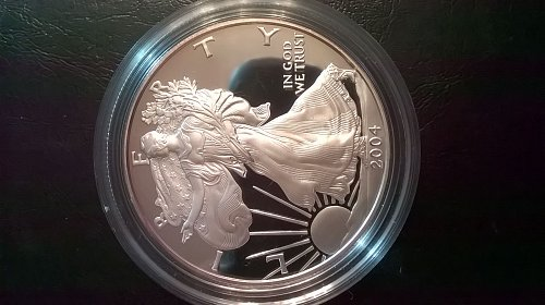 2004-W Proof Silver Eagle