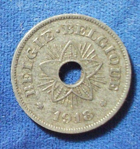 1918 Belgium 50 Centimes VF