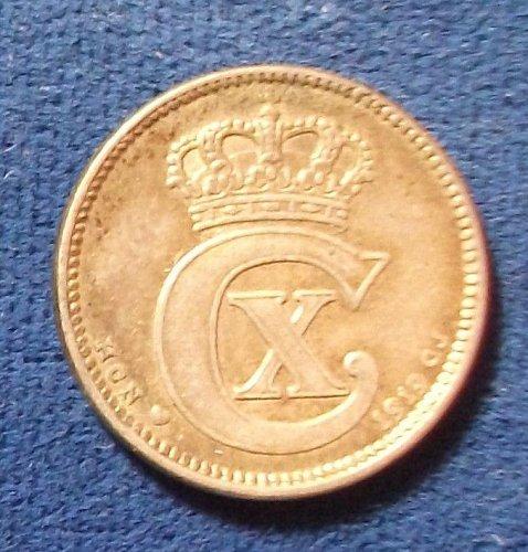 1919(h) Denmark 25 Ore VF+