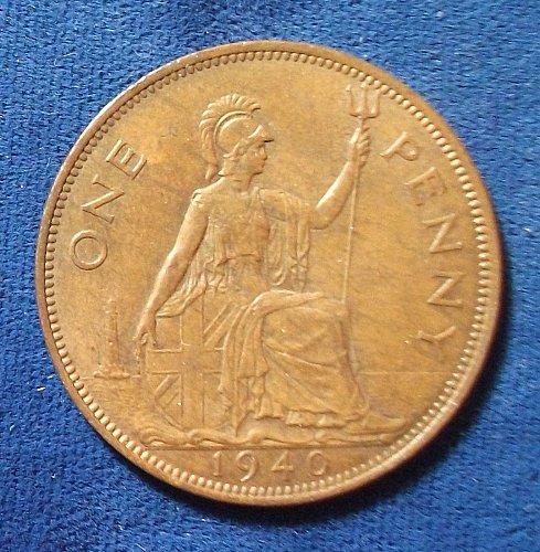 1940 Great Britain Penny XF-AU