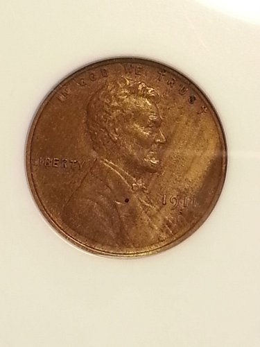 1911-S Lincoln Cent ANACS MS-60 BRN