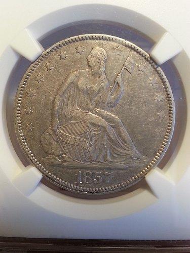 1857 Seated Liberty Half NGC XF-45