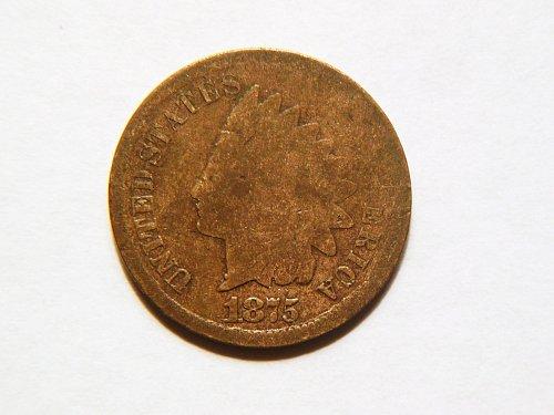 *RARE* 1875 Indian Head Cent, Weak Strike Error Coin