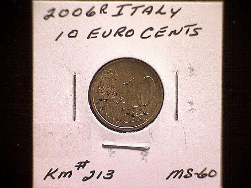2006R  ITALY TEN EURO CENTS