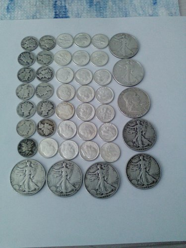 $7.50 FACE VALUE 90% US SILVER COINS