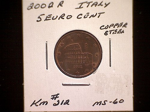 2002R  ITALY FIVE EURO CENTS