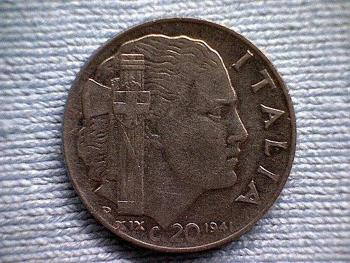 1941Rxx  ITALY TWENTY CENTESIMI
