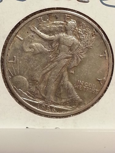 1936-S Walking Liberty Half