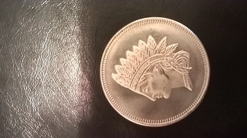 1 OZ Indian Head Penny Replica Silver Round