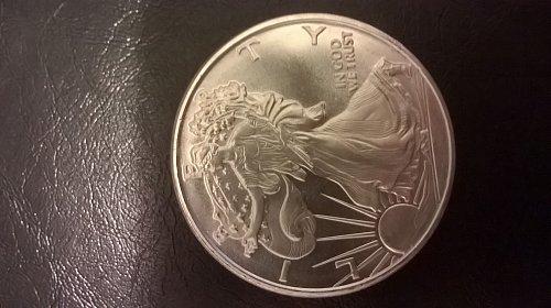 1 OZ Silver Eagle Replica Silver Round